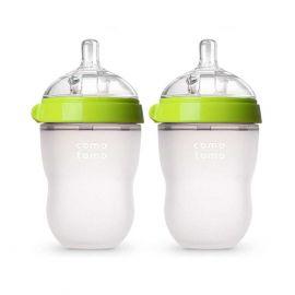 Comotomo Baby Bottle, Green, 8 Ounce