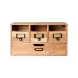 Korea Small Wood 4 Boxes Storage